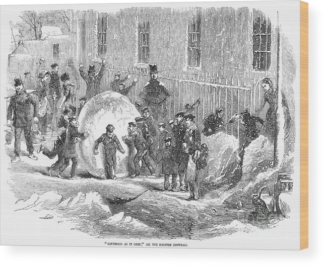 1855 Wood Print featuring the photograph England: Winter, 1855 by Granger