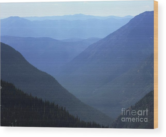 Nature Wood Print featuring the photograph Glacier Shades Of Blue by Dave Knoll