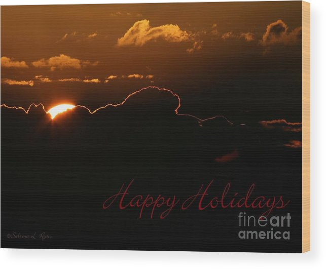Holiday Wood Print featuring the photograph Holiday Sunrise by Sabrina L Ryan