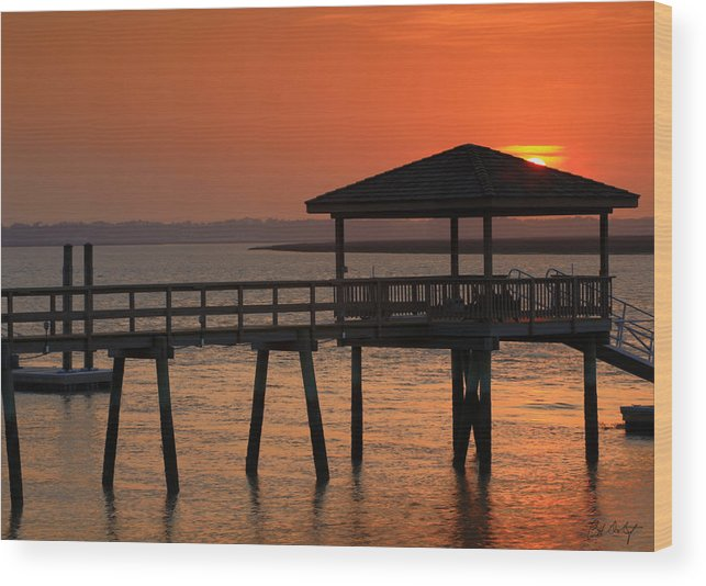 Beaufort County Wood Print featuring the photograph Penetrating The Haze by Phill Doherty