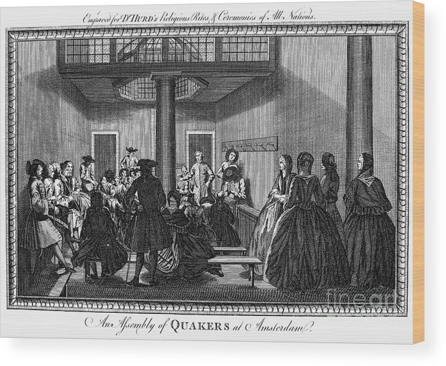 1790 Wood Print featuring the photograph Quaker Meeting, C1790 by Granger
