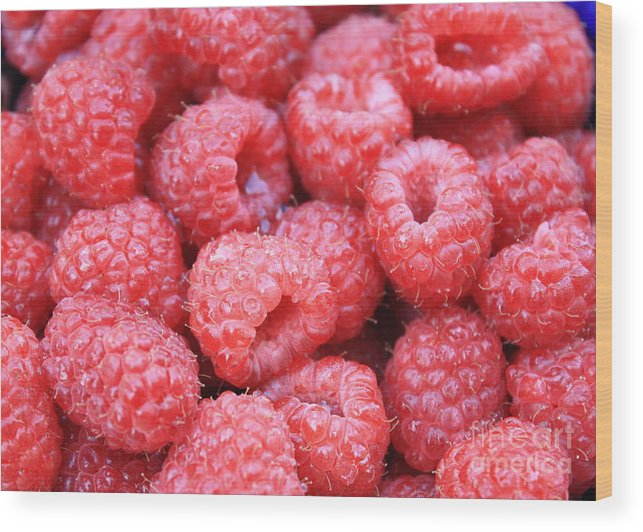 Raspberry Wood Print featuring the photograph Raspberries by Carol Groenen