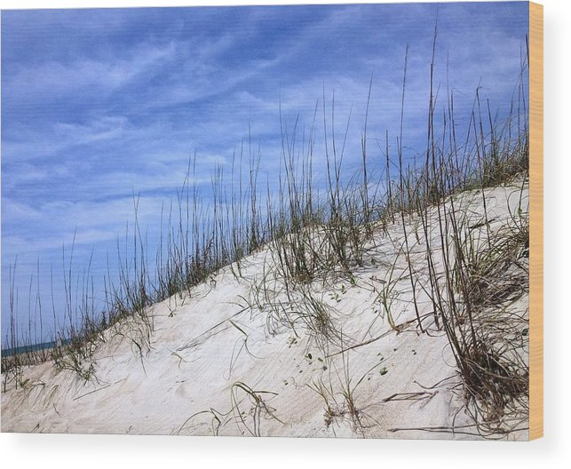 Dune Wood Print featuring the photograph The Dune's Of Atlantic Beach Nc by Joan Meyland