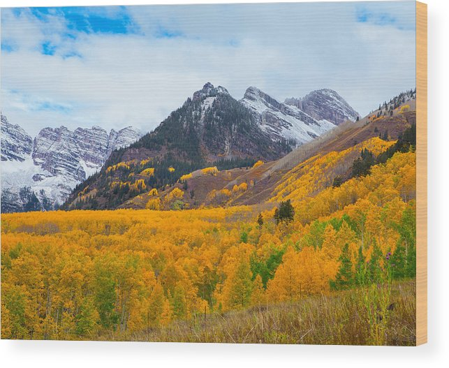Maroon Bells Wood Print featuring the photograph The Journey To You by Tim Reaves
