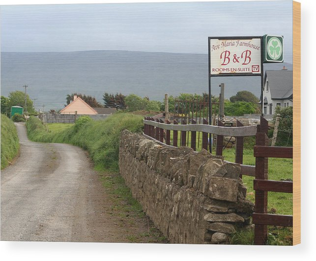 Ireland Wood Print featuring the photograph Ave Maria Bed And Breakfast by Beverlee Singer