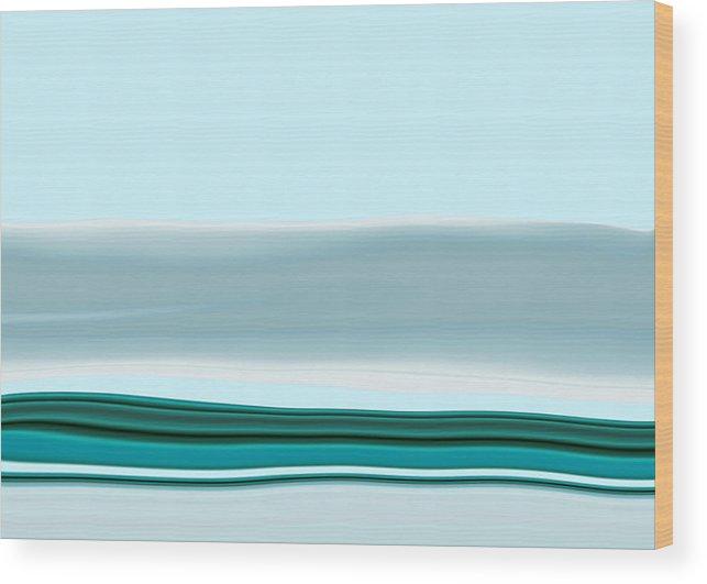 Seascape Wood Print featuring the digital art Oceanus II by Pauline Thomas