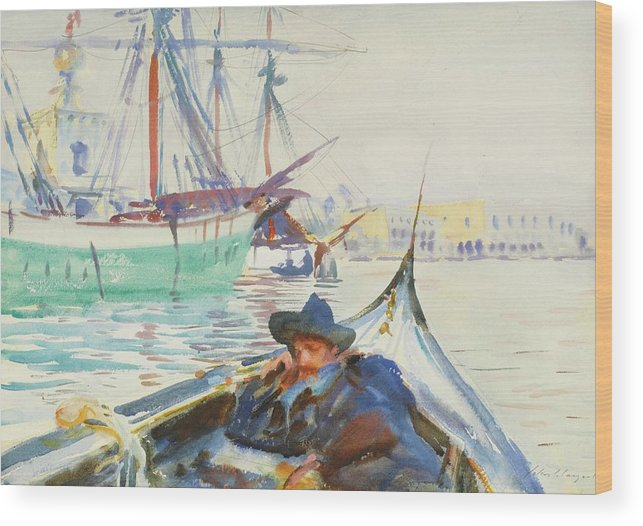 John Singer Sargent 1856 - 1925 The Giudecca (a Summer Day On The Giudecca Wood Print featuring the painting The Giudecca by John Singer
