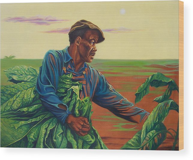Figurative Wood Print featuring the painting 3rd Pickins by Arnold Hurley
