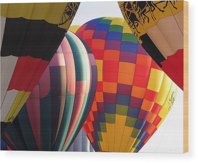 Hot Air Balloons Wood Print featuring the photograph Balloons by Margaret Fortunato