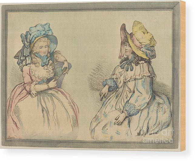 Wood Print featuring the drawing Beauties by Thomas Rowlandson