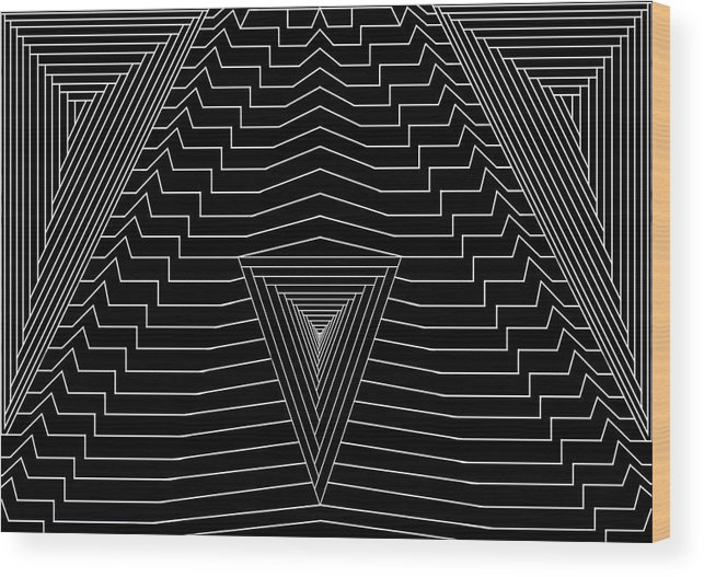 Se-metric Wood Print featuring the digital art Black Diamond by Christopher Rowlands