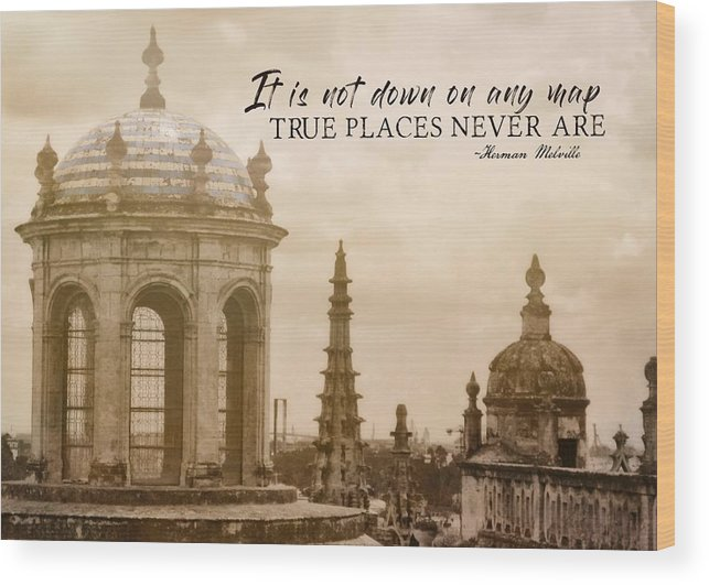 Spain Wood Print featuring the photograph Blue Against Blue Quote by JAMART Photography