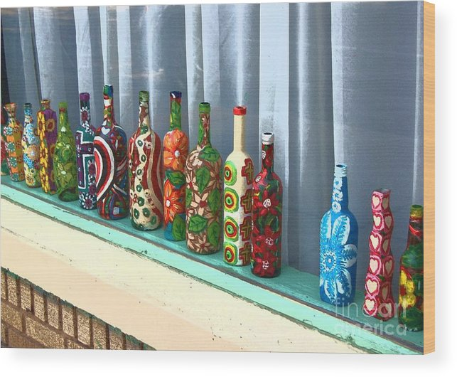 Bottles Wood Print featuring the photograph Bottled Up by Debbi Granruth