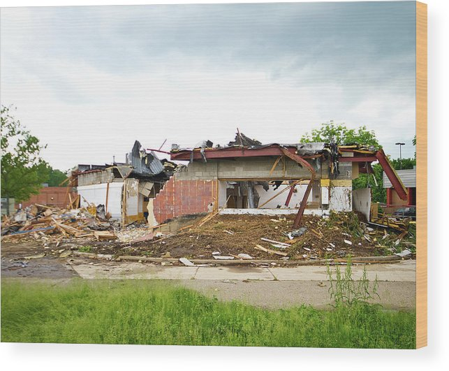 Burger King Wood Print featuring the photograph Burger King Deconstruction I by Tim Fitzwater