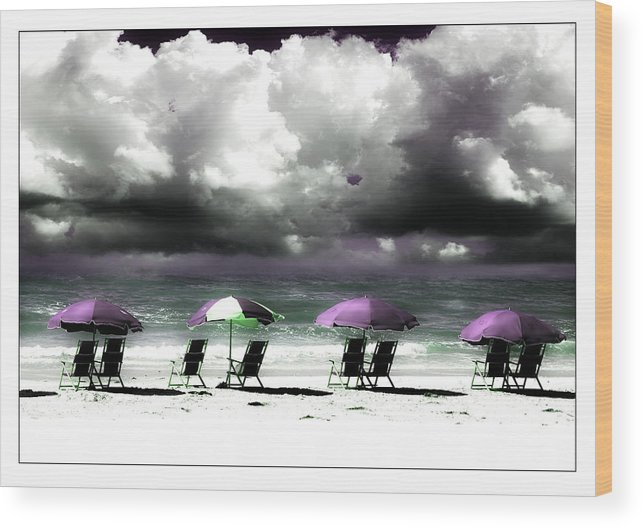 Beach Wood Print featuring the photograph Cloud Illusions by Mal Bray