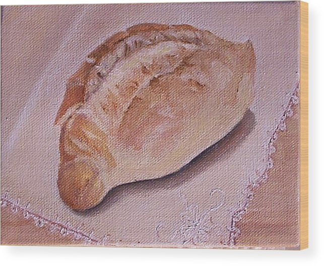 Still Life Wood Print featuring the painting Daily Bread by Irene Corey