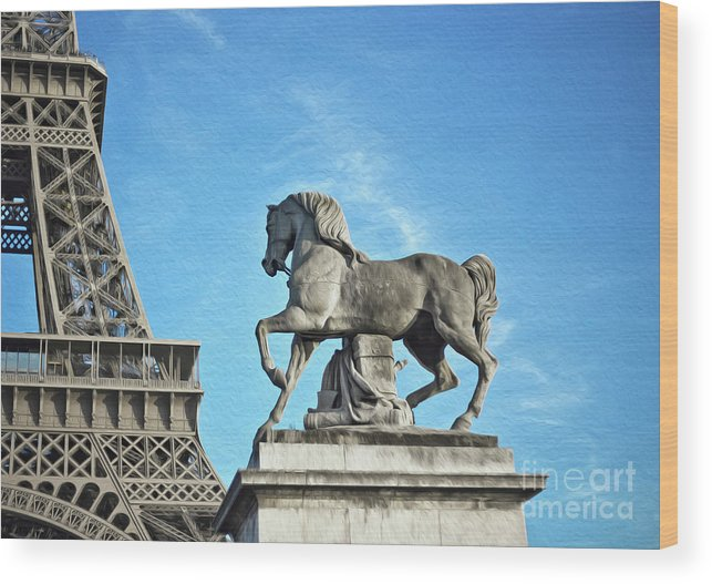 Paris Wood Print featuring the photograph Eiffel Tower 16 Art by Alex Art and Photo