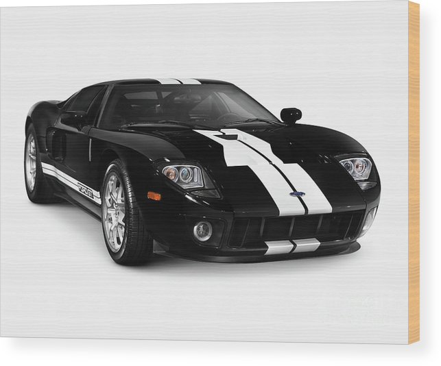 Supercar Wood Print featuring the photograph Ford Gt Supercar by Oleksiy Maksymenko