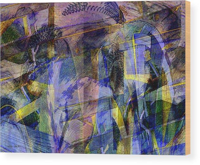 Photopainting Wood Print featuring the digital art Galveston Garden by Helga Schmitt