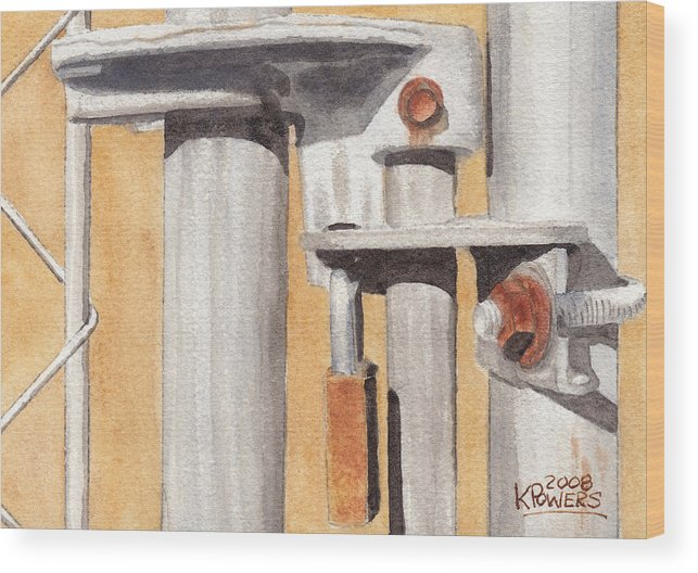 Gate Wood Print featuring the painting Gate Lock by Ken Powers