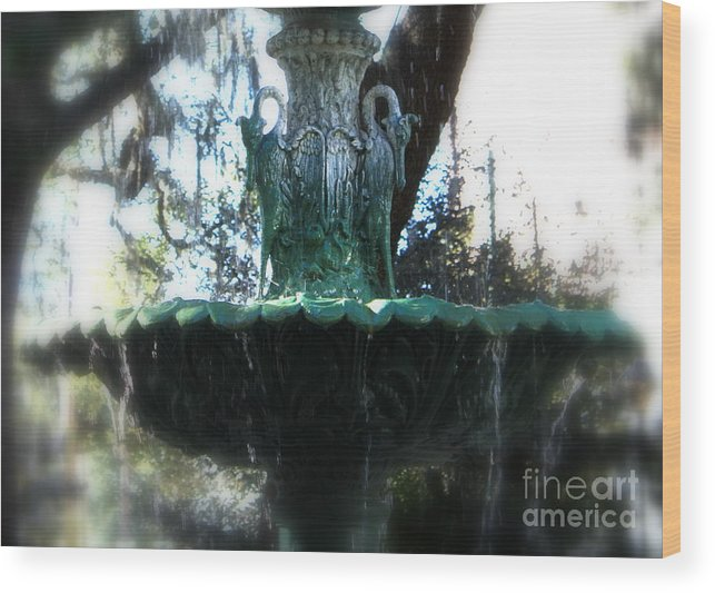 Savannah Wood Print featuring the photograph Green Fountain by Carol Groenen