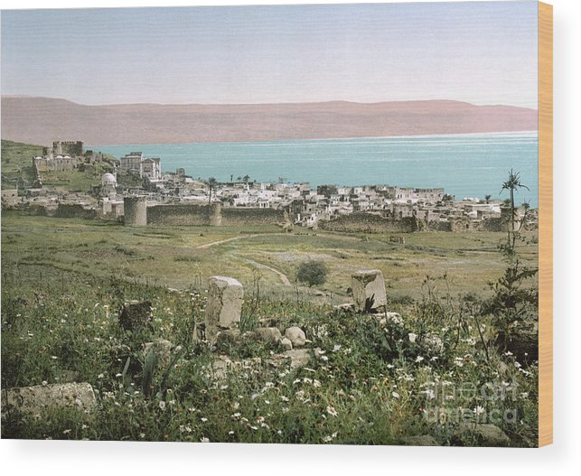 1895 Wood Print featuring the photograph Holy Land: Tiberias by Granger
