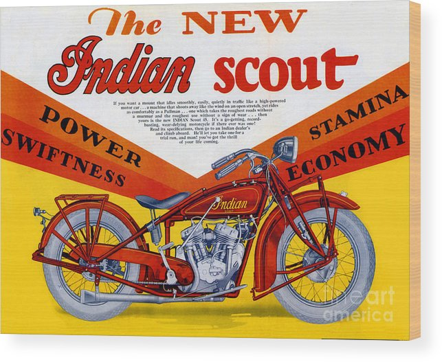 Indian Wood Print featuring the digital art Indian Scout by Steven Parker