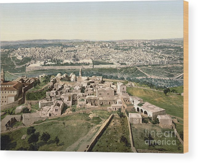 1900 Wood Print featuring the photograph Jerusalem, C1900 by Granger