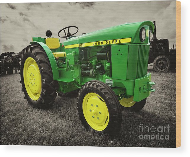 Tractor Wood Print featuring the photograph Classic Green by Rob Hawkins