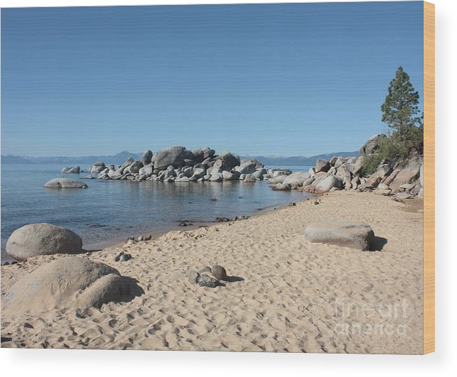 Lake Tahoe Wood Print featuring the photograph Lake Tahoe Morning by Carol Groenen