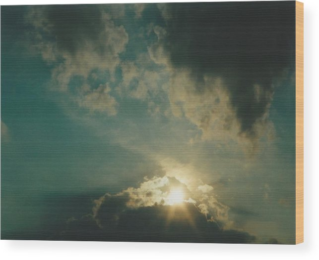 Landscape Wood Print featuring the photograph Medina Ohio by Gene Linder