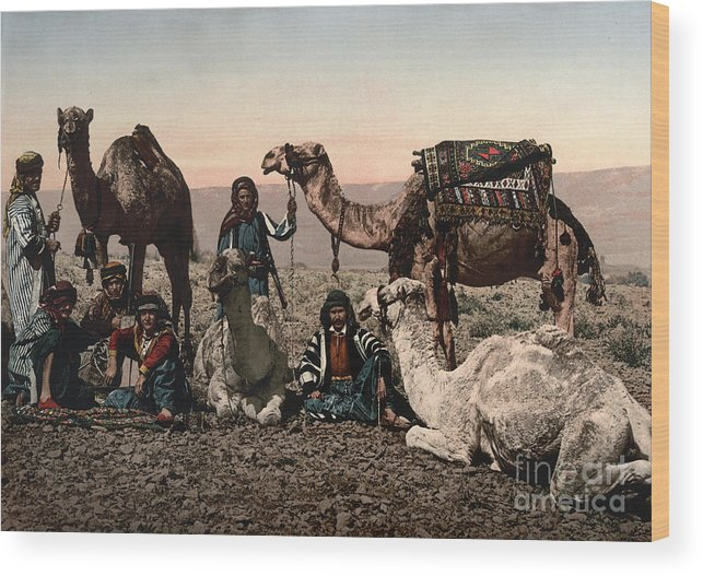 1890s Wood Print featuring the photograph Middle East: Travelers by Granger