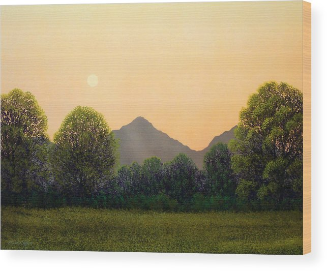 Landscape Wood Print featuring the painting Morning Light by Frank Wilson