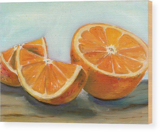 Oil Wood Print featuring the painting Orange by Sarah Lynch