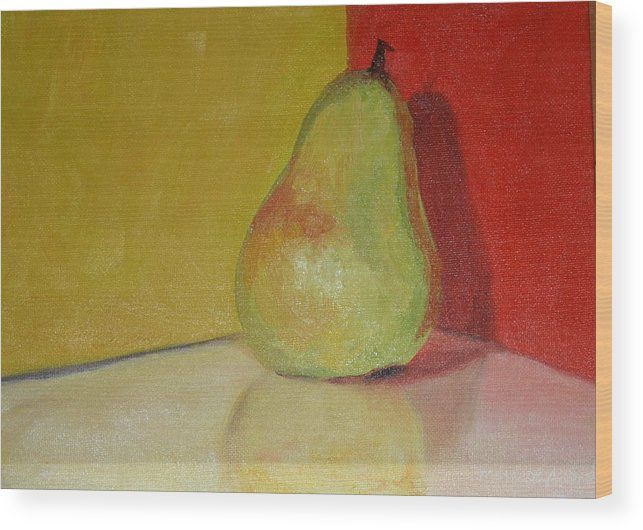 Pear Wood Print featuring the painting Pear Study by Martha Layton Smith