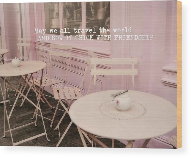 London Wood Print featuring the photograph Pink Party Cakes Quote by JAMART Photography