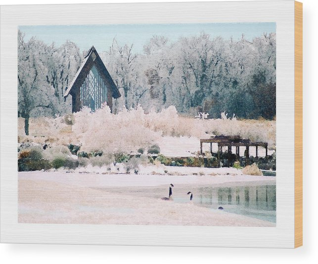 Landscape Wood Print featuring the photograph Powell Gardens Chapel by Steve Karol