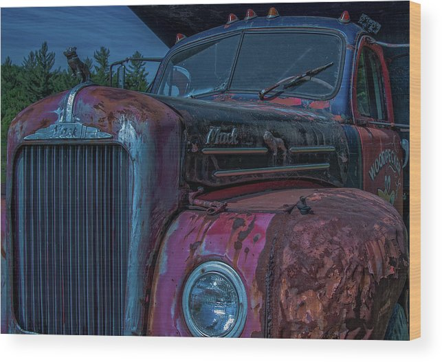 Retired Wood Print featuring the photograph Retired Rusty Mack IIi by Tony Pushard