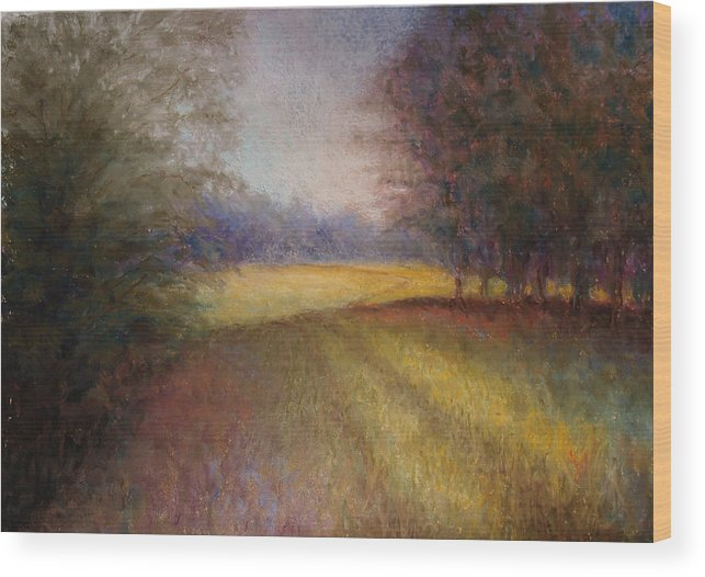 Lanscape Wood Print featuring the painting Romance Trail by Susan Jenkins