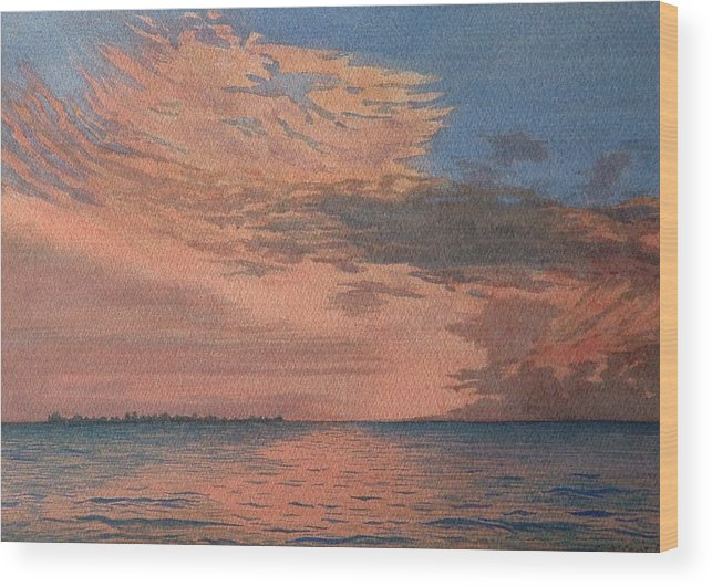 Landscape Wood Print featuring the painting Sailors Delight by Lynn ACourt