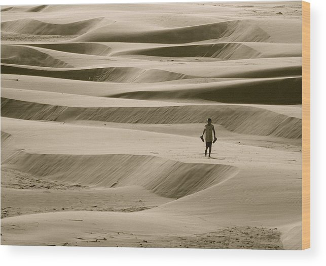 Scenic Wood Print featuring the photograph Sand Walker by Mark Lemon