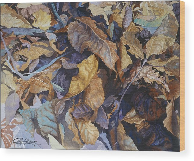 Autumn Wood Print featuring the painting Shadowland by Craig Gallaway