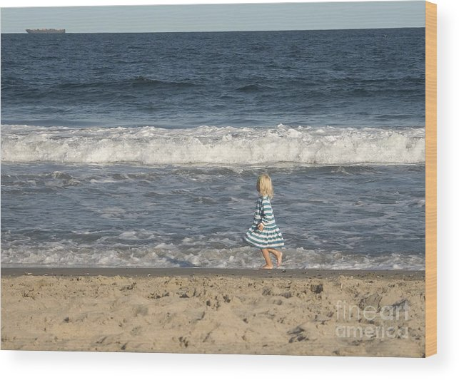 Seascape Wood Print featuring the photograph Stripes by Andrew Kazmierski
