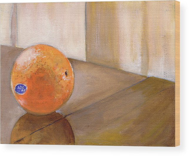 Food Wood Print featuring the painting Sunkist by Sarah Lynch