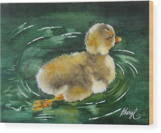 Animals Wood Print featuring the painting Test Run by Cheryl Bannister