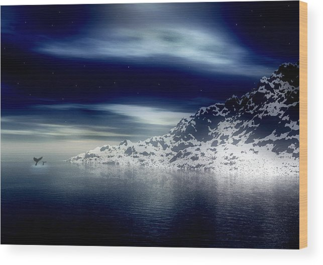 Arctic Wood Print featuring the digital art The Journey Together by Kenneth Krolikowski