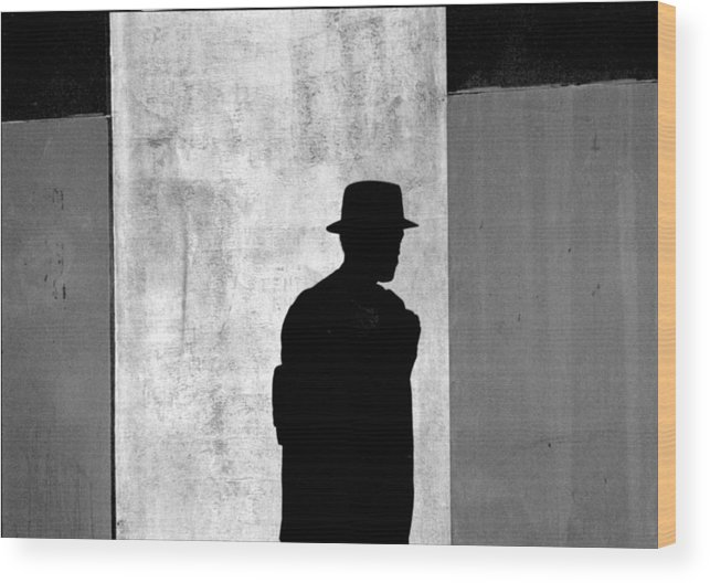 Abstract Wood Print featuring the photograph The Last Time I Saw Joe by Steven Huszar