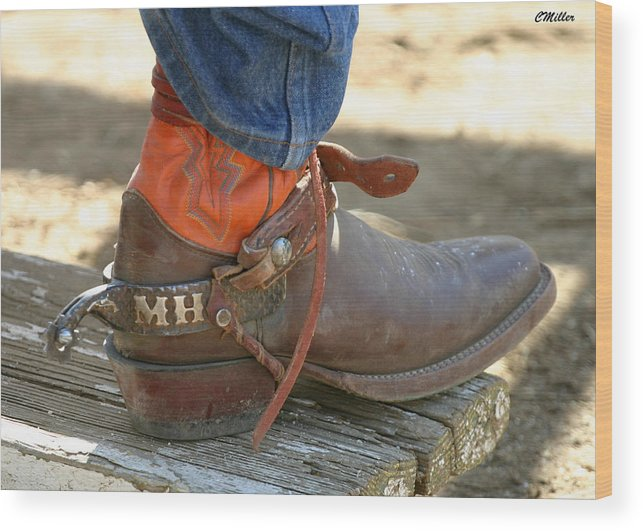 Rodeo Wood Print featuring the photograph These Belong To Marv.. by Carol Miller
