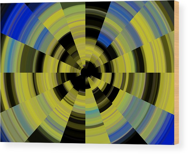 Tunnel Vision Wood Print featuring the digital art Tunnel Vision by Debbie McIntyre
