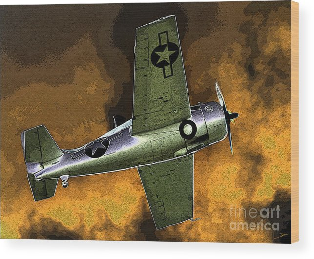Wildcat Wood Print featuring the painting Wildcat by David Lee Thompson